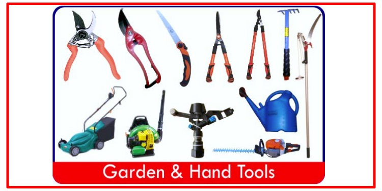 Garden tools and hand tools agro engineering equipments for Horticulture tools list